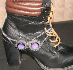 "Handmade Dichroic Glass ""Boot Bling"" #16"