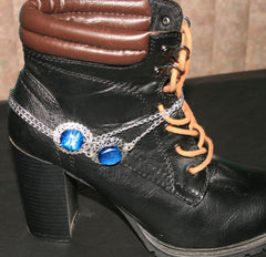 "Handmade Dichroic Glass ""Boot Bling"" #18"