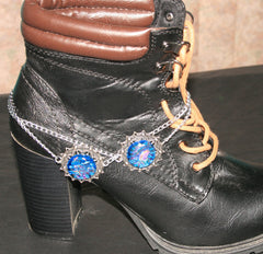 "Handmade Dichroic Glass ""Boot Bling"" #20"