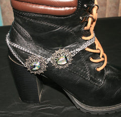 "Handmade Dichroic Glass ""Boot Bling"" #05"