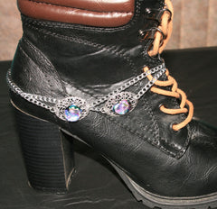 "Handmade Dichroic Glass ""Boot Bling"" #07"