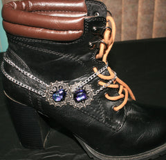 "Handmade Dichroic Glass ""Boot Bling"" #08"