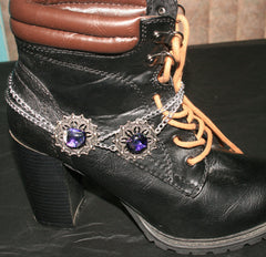 "Handmade Dichroic Glass ""Boot Bling"" #09"