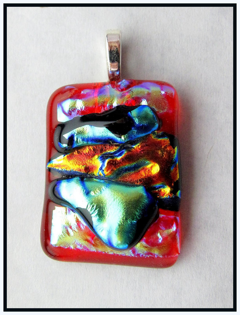 Imaginative Creations Bailed Pendant #04a Memorable Glass Jewelry
