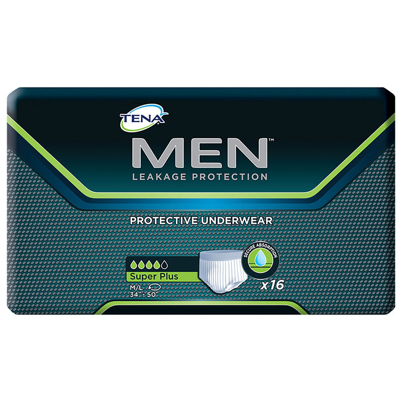 Tena Men Super Plus Absorbent Underwear, Medium / Large