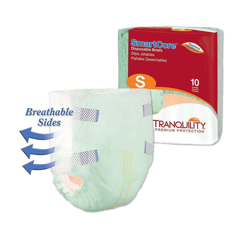 Tranquility SmartCore Maximum Protection Incontinence Brief, Small
