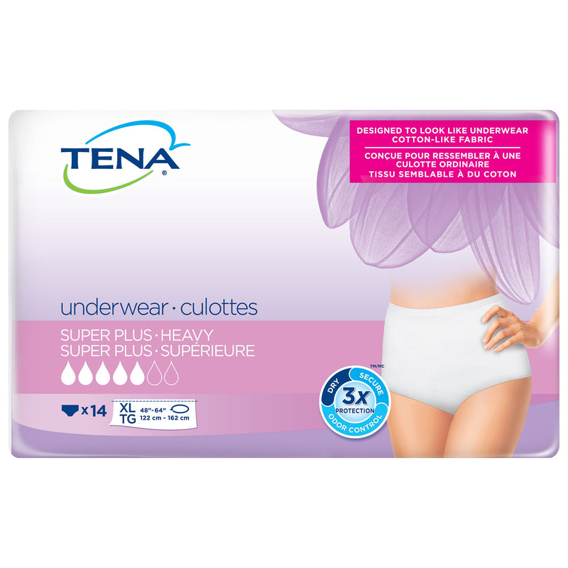 Tena Women Super Plus Heavy Absorbent Underwear, Extra Large