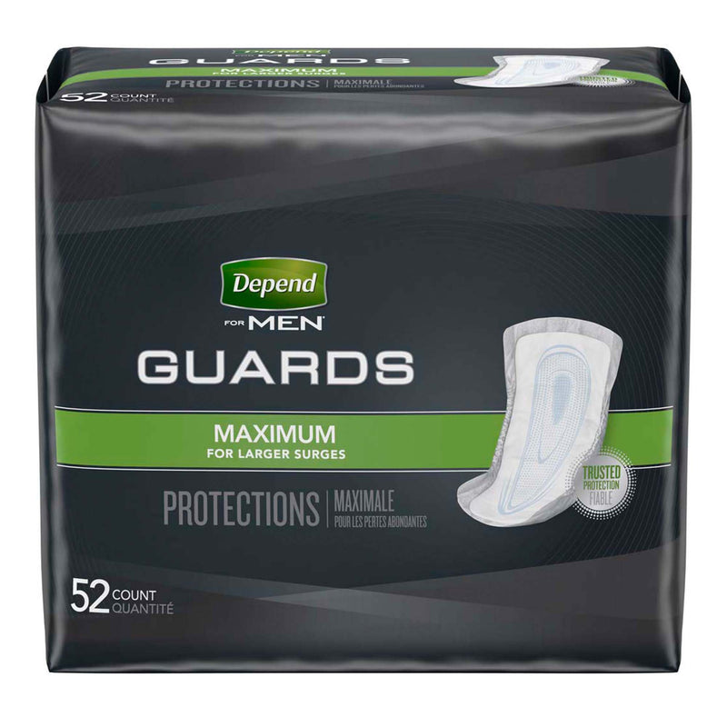 Depend Guards for Men Maximum Bladder Control Pad, 12-Inch Length