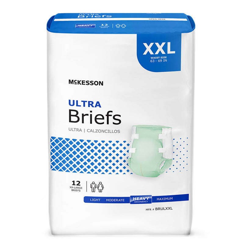 McKesson Ultra Heavy Absorbency Incontinence Brief, Extra Extra Large