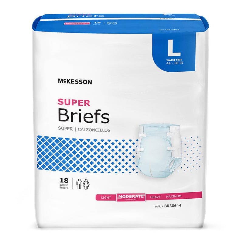 McKesson Super Moderate Absorbency Incontinence Brief, Large