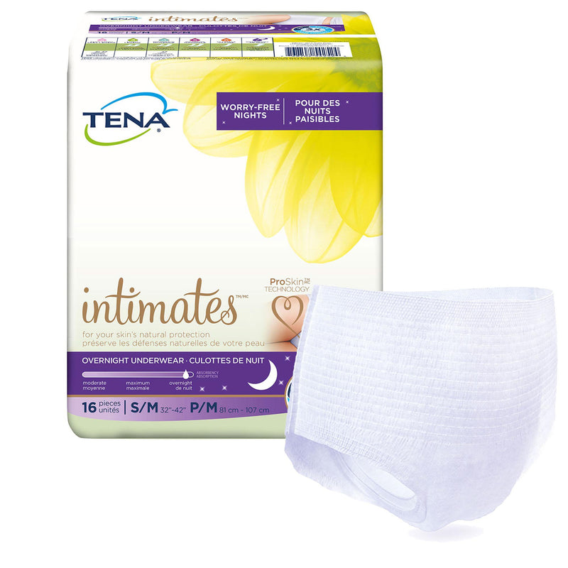 Tena Intimates Overnight Absorbent Underwear, Medium