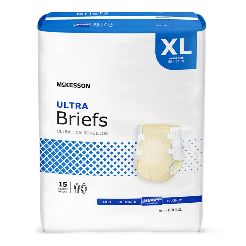 McKesson Ultra Heavy Absorbency Incontinence Brief, Extra Large