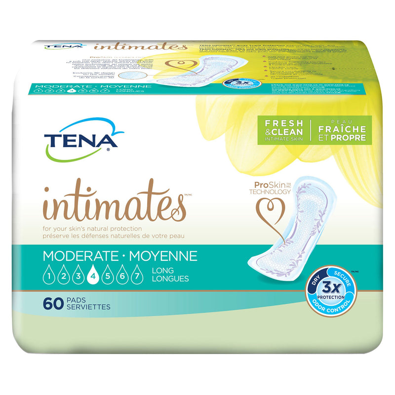 Tena Intimates Moderate Long Bladder Control Pad, 12-Inch Length