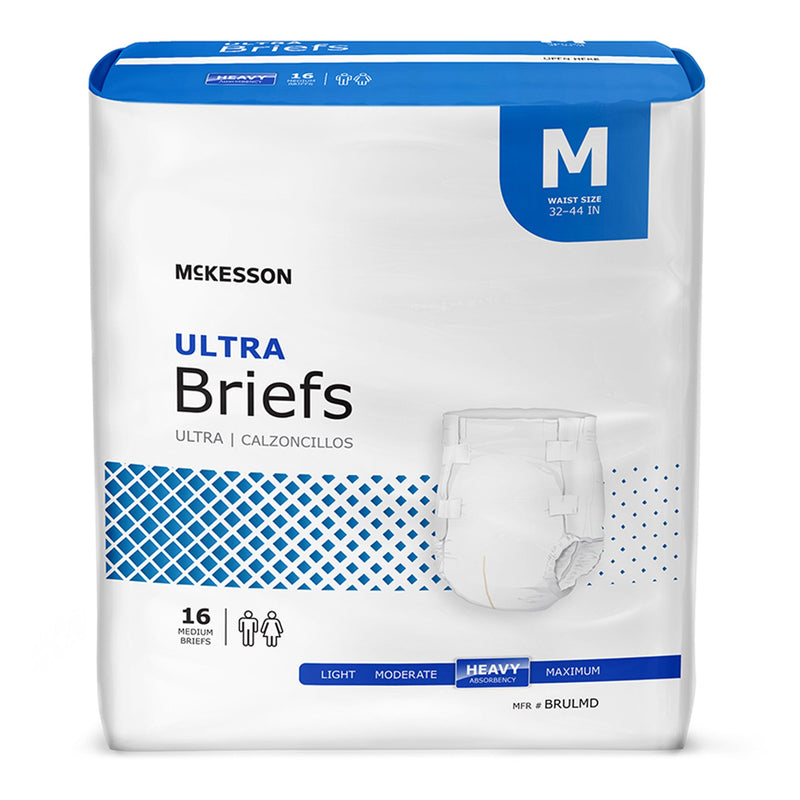 McKesson Ultra Heavy Absorbency Incontinence Brief, Medium