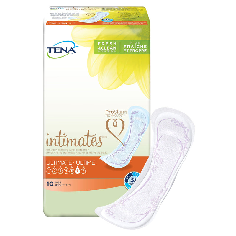 Tena Intimates Ultimate Bladder Control Pad, 16-Inch Length, 10 per Box