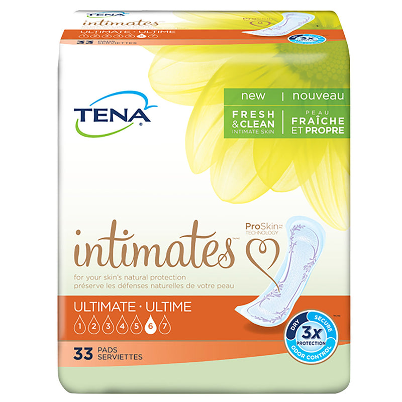 Tena Intimates Ultimate Bladder Control Pad, 16-Inch Length, 33 per Box