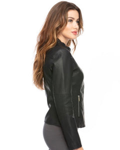 Snap It Up Vegan Leather Jacket