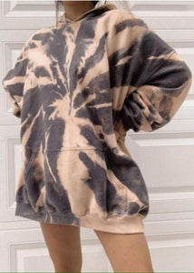 Tie Dye Hooded Sweatshirt