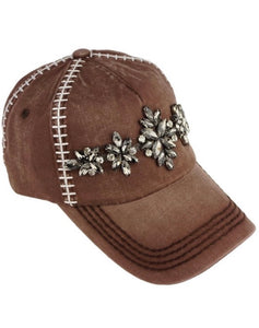 Embellished FOOTBALL themed Baseball Cap