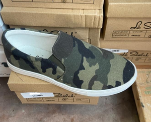 Camouflage Slip-On Shoes