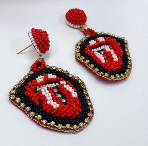 Lip Shade Drop Earrings