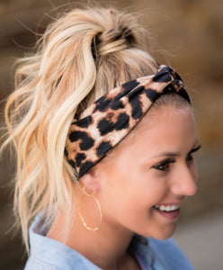 LV Leopard Twist Headband