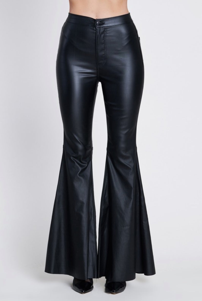 Faux Leather Flare