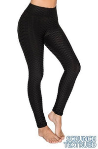 Scrunch Textured Tummy Control Yoga Leggings