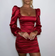 Satin Puff-Sleeve Ruched Dress