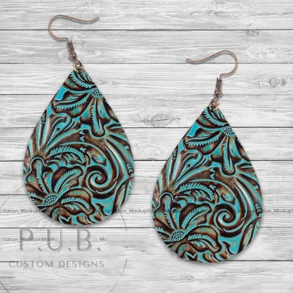 Country Girl Life Turquoise Earrings