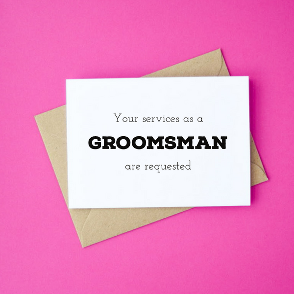 Your Services as a Groomsman