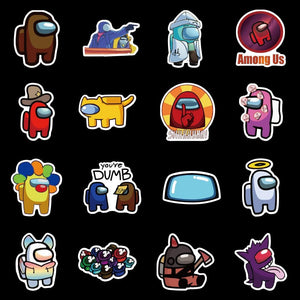Among Us 50 PCS Assorted Stickers, among us stickers, among us sticker, among us stickers pack, among us stickers laptop car