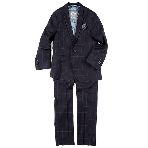 Mod Suit | Navy Windowpane