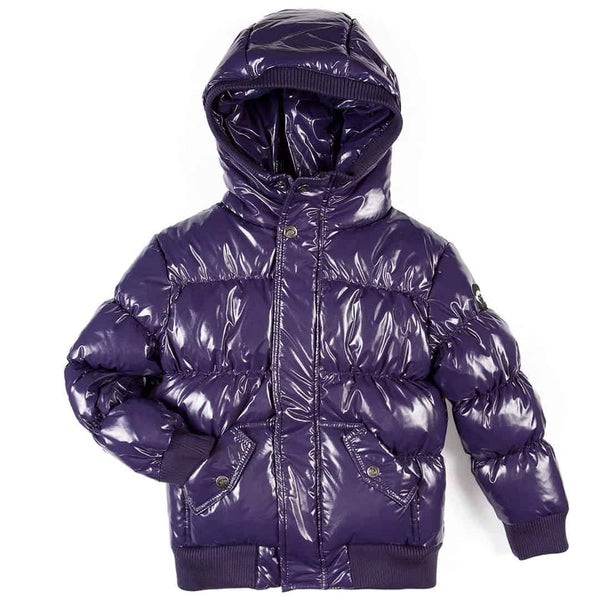 Puffy Coat | Sparkle Purple