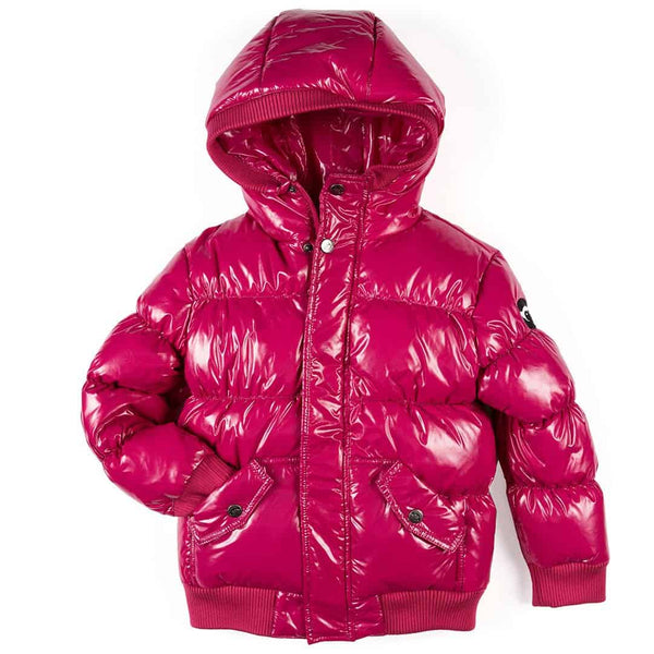 Puffy Coat | Sparkle Fuchsia
