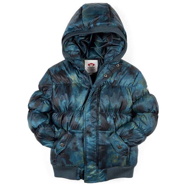 Puffy Coat | Teal Aurora