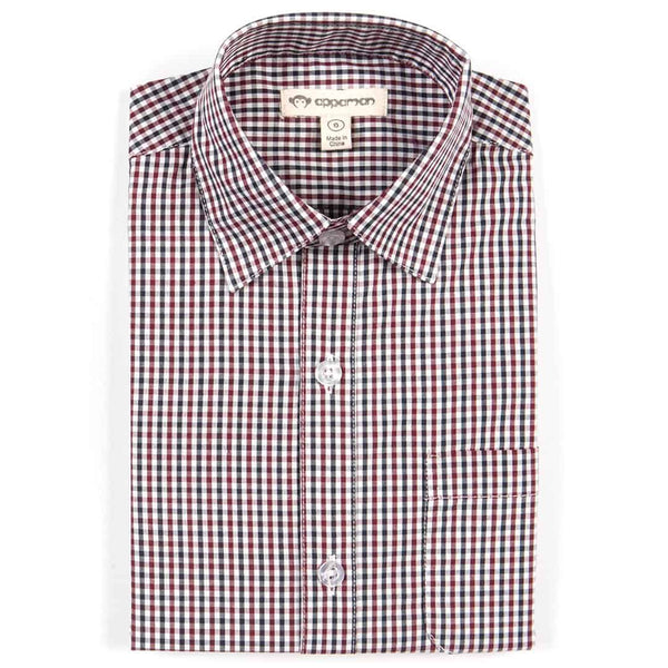 The Standard Shirt | Wine/Black Check