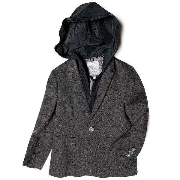 Hooded Professor Blazer | Charcoal