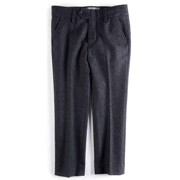 Tailored Wool Pant | Charcoal
