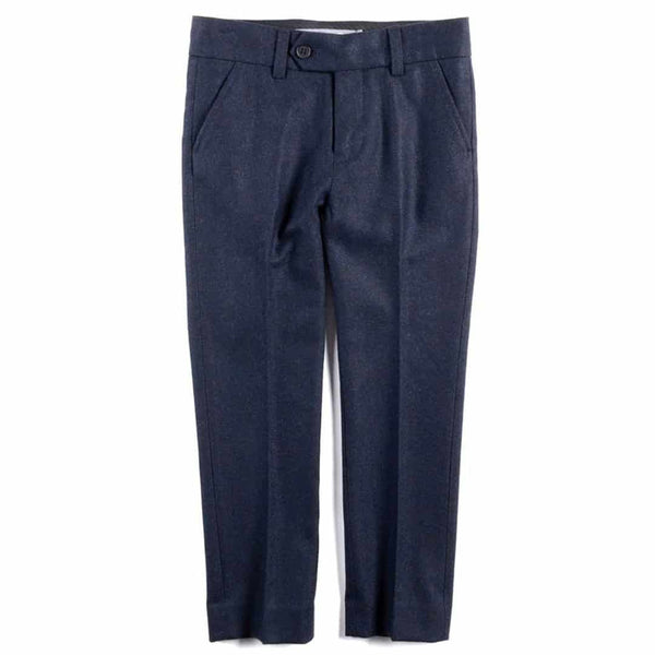Tailored Wool Pant | Navy Blue