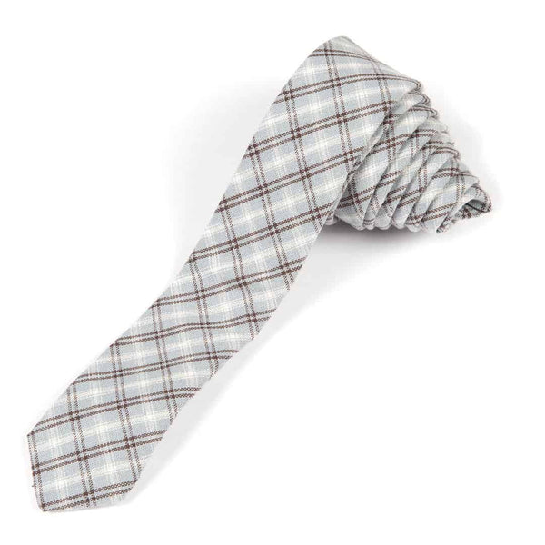Tie | Slate Blue Plaid