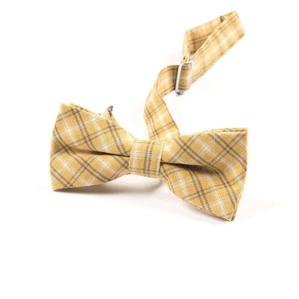 Bow Tie | Rusty Gold Plaid