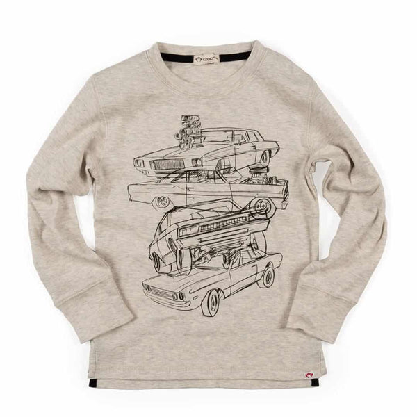 Car Stack Graphic Tee