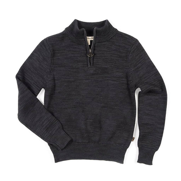 Mock Neck Sweater | Charcoal Heather