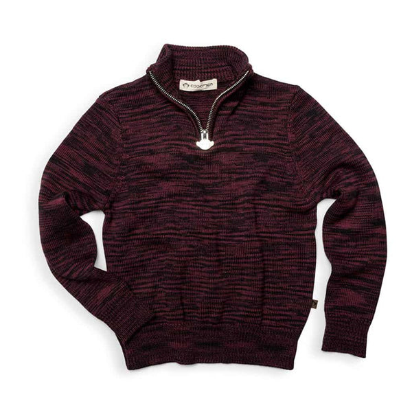 Mock Neck Sweater | Plum Heather