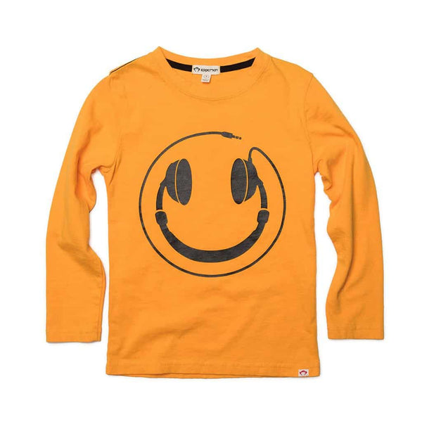Happy Tunes Graphic Tee | Saffron