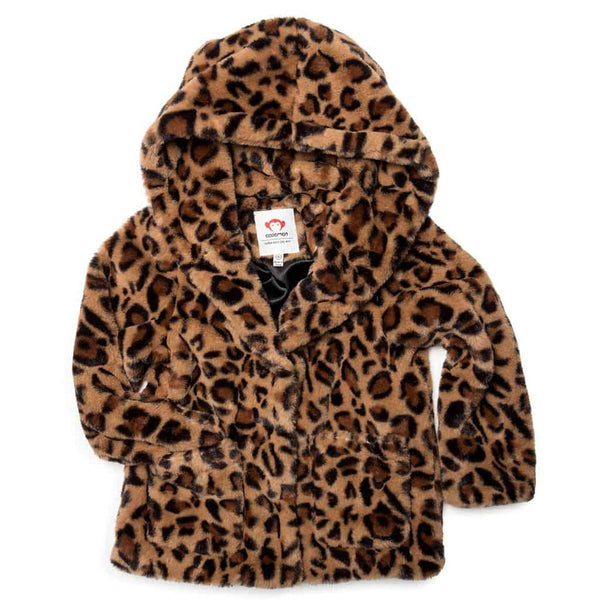 Cleo Faux Fur Coat | Leopard