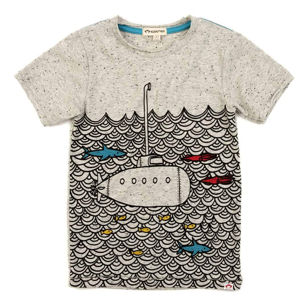 Submarine Graphic Tee| Speckled Grey Heather