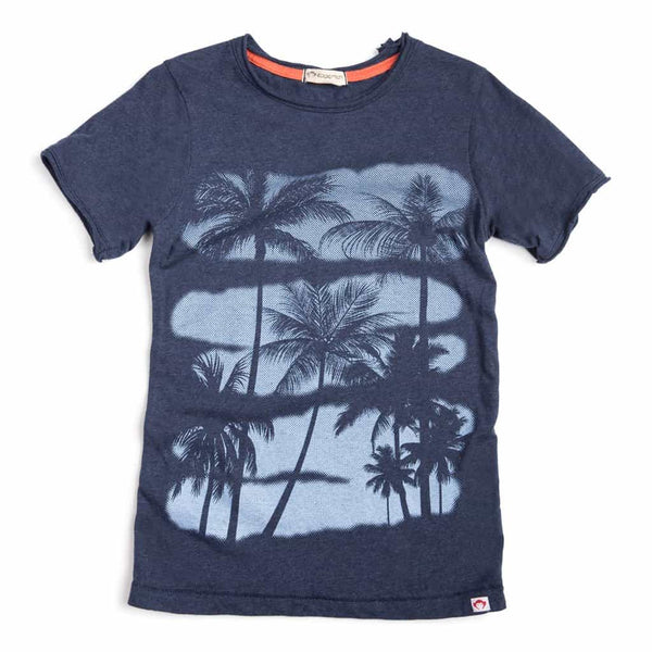 Palms Tee | Eclipse Heather