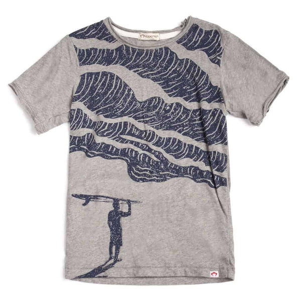 Surf Tee | Grey Heather